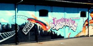 Kæmpe vægmaleri i Valby
